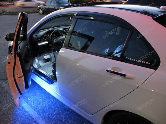 Acura - TSX - blue - led - under - door - lights - 1